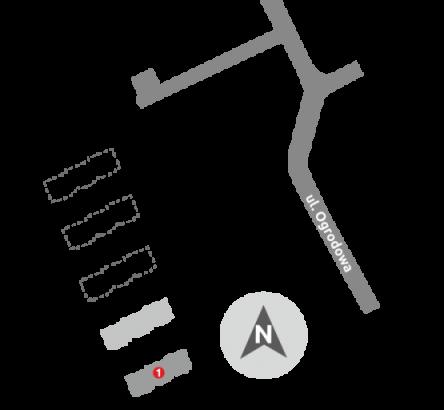 Budynki mieszkalne – Ełk   ul. Ogrodowa