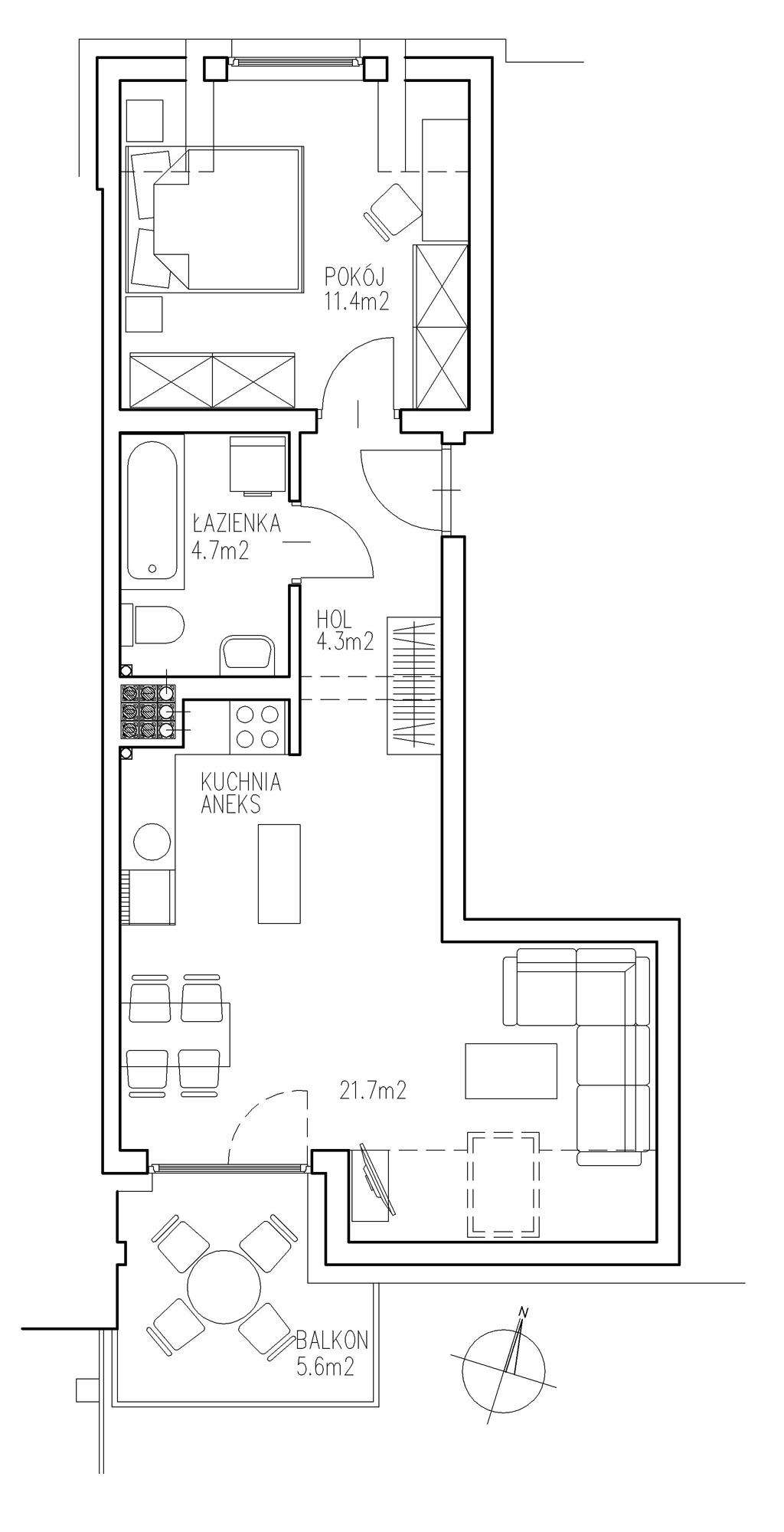KTK Deweloper - Ełk - ul. Ogrodowa - Blok nr 2 - Mieszkanie nr 12