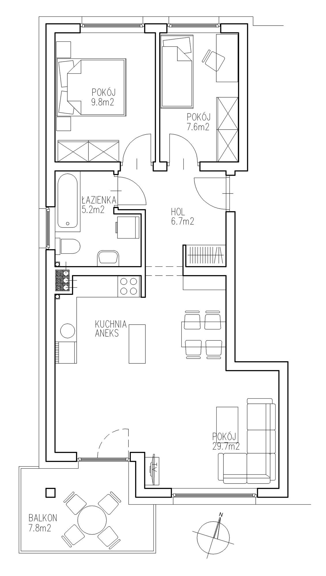 KTK Deweloper - Ełk - ul. Ogrodowa - Blok nr 2 - Mieszkanie nr 16