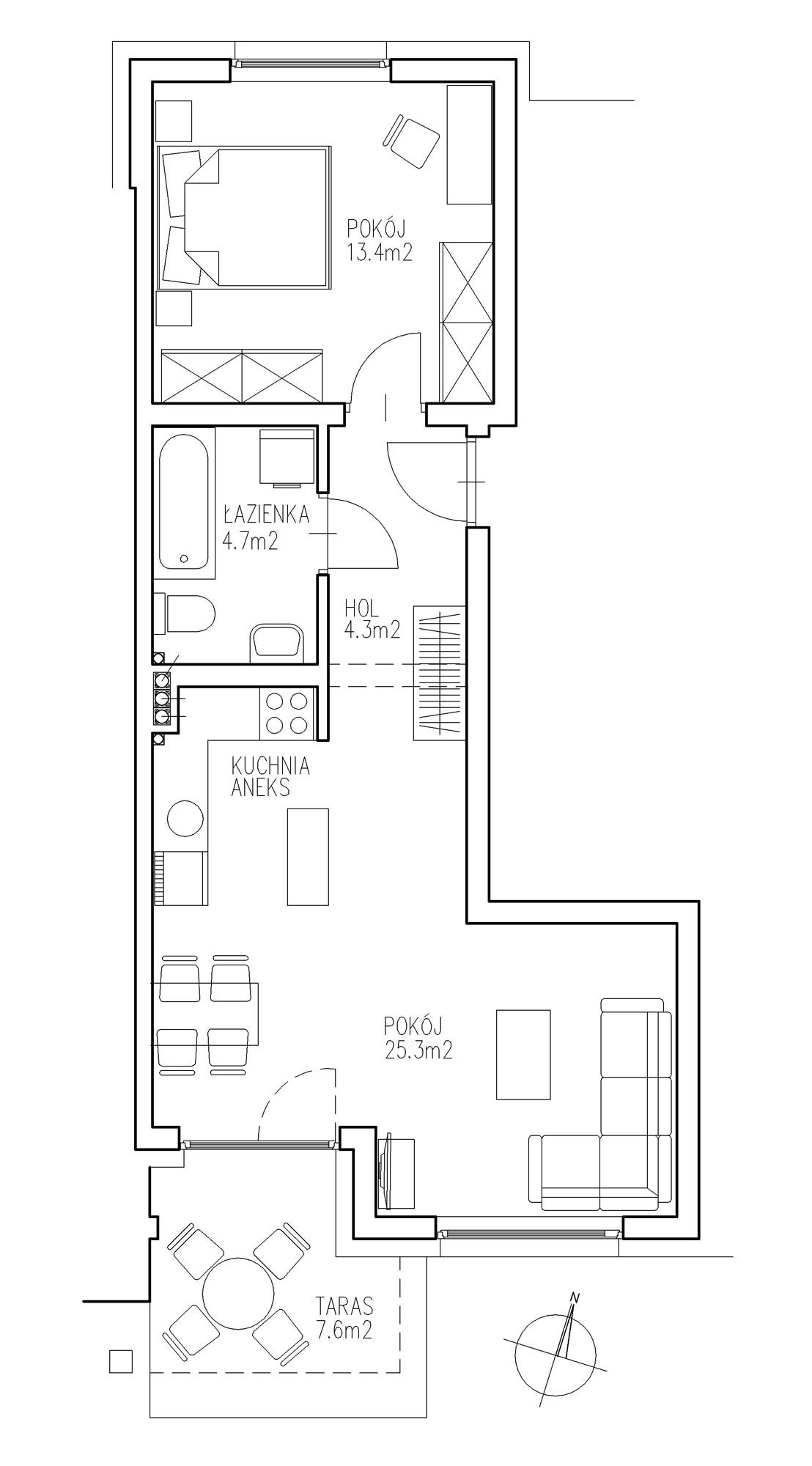 KTK Deweloper - Ełk - ul. Ogrodowa - Blok nr 2 - Mieszkanie nr 8
