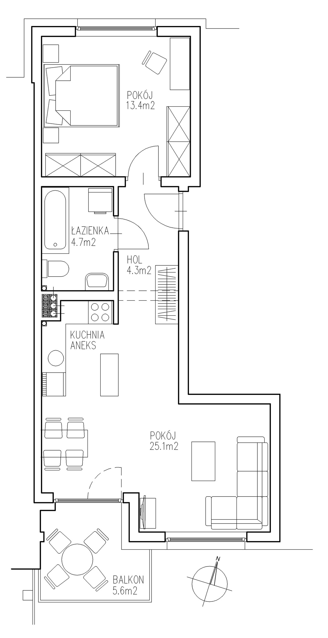 KTK Deweloper - Ełk - ul. Ogrodowa - Blok nr 2 - Mieszkanie nr 10